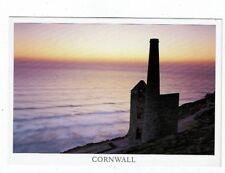 CORNISH TIN MINING POST CARD AT CHAPEL PORTH