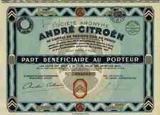 André Citroën Societe Anonyme 1927 Paris TOP DEKO Automobilaktie 500 Francs 2 CV