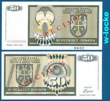 Bosnia/Bosnia 50 Dinara 1992 SPECIMEN UNC p.134 S