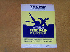THE PAD (AND HOW TO USE IT) sheet music from film 1966 4 pages (VG shape)