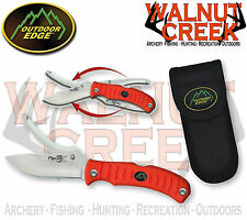 Outdoor Edge Flip n' Zip Series Flip n' Blaze Orange Handle Knife Model FZB-20