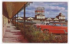 Auberge Laurier Motel Car Quebec Bridge Canada postcard