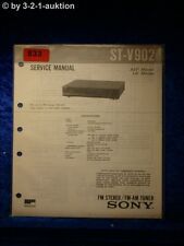 Sony Service Manual ST V902 Tuner (#0833)