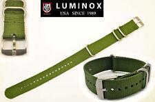 Luminox watch band  Webbing Strap 22mm  Green 3-Loop  3000 3040 3050 3080