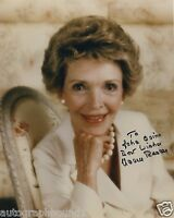 "NANCY REAGAN SIGNED AUTOGRAPHED COLOR 8X10 PHOTO ""TO JOHN"" RONALD REAGAN WIDOW"