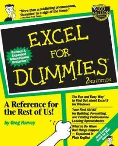 Excel For Dummies - Paperback By Harvey, Greg - GOOD