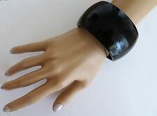 Gorgeous 4 cms Wide and Chunky Dark Brown Wooden Bangle Bracelet SECOND