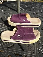 Converse One Star. Slides Slip on Sandals Flip Flops.Purple Suede.Size 5 Vintage