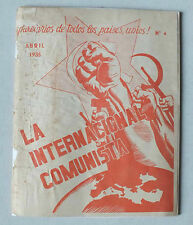 LA INTERNACIONAL COMUNISTA  - ABRIL - AVRIL 1935 *