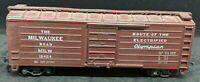 """HO Scale """"Box Car, The Milwaukee Road MILW 18454 ELECTRIFIED OLYMPIAN. DIE CAST"""