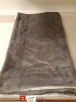 "SOCHOW Sherpa Fleece Throw Blanket, Double-Sided Super Soft (50"" x 60"") Grey"