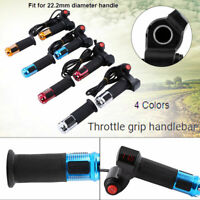12V-99V Scooter Electric Bike E-Bike Throttle Grip Handlebar LED Digital Meter