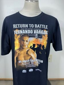 Vintage Return To Battle Fernando Vargas Vs Javier Castillejo 2005 T-shirt Sz L