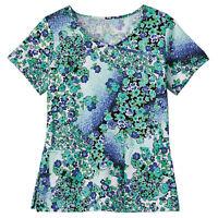 Bio Women/'s Scrub top Style 5071-3266 Vibrant Blooms