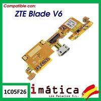 FLEX DE CARGA PARA ZTE BLADE V6 CABLE PLACA MICRO USB MICROFONO CONECTOR PIEZA