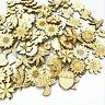 50PCS Pine Cone Mushroom Wooden Cardmaking Hanging Ornament Embellishment Craft
