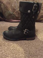 Ugg Leather Biker Boots U.K. 5.5 Black