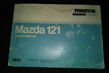 OWNERS MANUAL MAZDA 121 1989 - 1996 GENUINE COVER HAS SOME COSMETIC ISSUES