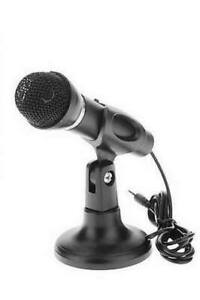Desk Microphone With Stand 3.5mm Plug For Laptop PC Computer Sound System