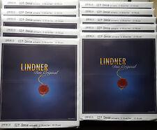 100x lindner omnia 02p einsteckblatt con tiras 2 (140 mm), negro nuevo