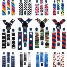 Cute Baby Boys Girl Clip on Suspender Y Back Child  Kid Elastic  Braces Gift UK