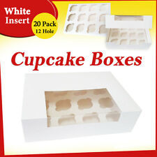Cupcake Box 20 Pack 12 Hole Window Face Cake Boxes Cake Boards Cupcake Boxes