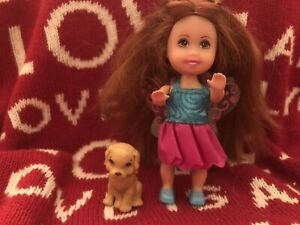"""Barbie Sister Kelly Friend Wings Doll and Adorable Puppy """"Super Cute"""" *Free gift"""