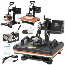 5 In 1 Heat Press Machine For 12x15 Combo Kit Sublimation Swing Away
