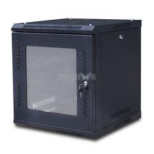 9U Wall Mount Network Server Cabinet Rack Enclosure Glass Door Lock 18