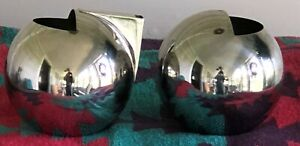 Oliver Hemming Art Deco Style Stainless Steel  Nio Chrome Sugar  and Creamer