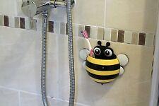 Cute Honeybee Toothbrush & Toothpaste Holder for Kids & Family - Yellow & Black