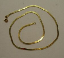 """Made in Italy 16"""" 3.3 Grams 14K Yellow Gold Herringbone Chain Necklace"""