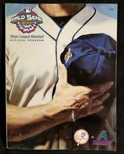 2001 World Series MLB Official Program New York YANKEES Arizona DIAMONDBACKS WS