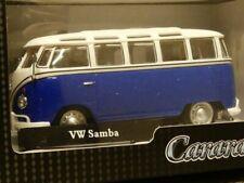 1/43 Cararama VW t1 samba blanco/azul