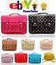 Ladies Girls Polka Dot Shoulder Medium Vintage Work Briefcase School Satchel Bag
