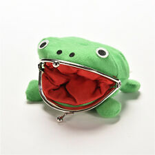 Naruto Frog Fluff Coin Purse Wallet New Cartoon Green Cute Gifts RRTY