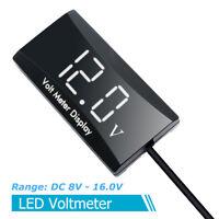 White LED Display Voltmeter Panel Voltage Volt Meter DC 8-16V For Motorcycle
