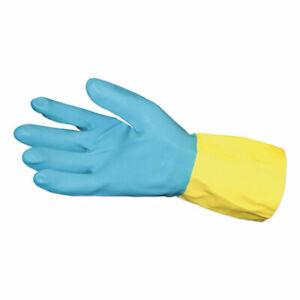 12 PACK IMPACT 8433L Reusable Neoprene Latex Gloves Powder-Free. LARGE 12 PAIRS