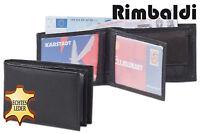 Rimbaldi® mini Geldbörse in Schwarz aus naturbelassenem Leder