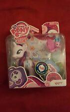 My Little Pony 2011 Figure RARITY w/ suitcase, butterfly, tickets & sticker shee