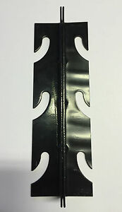 OTTOMAN BRACKETS SET OF 4 STEEL BLACK 3 BOLT ATTACHMENT TRACKED DELIVERY