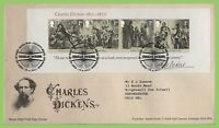 G.B. 2012 Charles Dickens M/S on Royal Mail First Day Cover, Tallents House