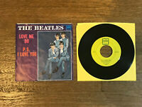 Beatles Picture Sleeve + 45 RPM Record - Love Me Do / PS I Love You - Tollie
