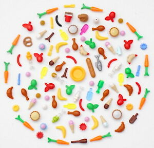 LEGO Friends 100+ Pc Food & Accessories Authentic Lot Fruit Vegetable Pie Cake