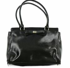 Kate Spade New York 243439 Womens Patent Leather Satchel Black Size 13x9.25x4