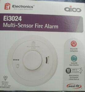Aico EI3024 Multi-sensor Fire Alarm Detector replace date 2031