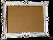 Bilderrahmen Weiß Gold Barock mit Glas Hochzeitsrahmen Antik 90x70 groß
