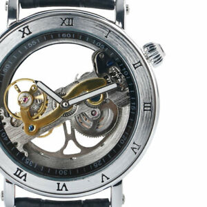 Luxury Men Automatic Mechanical Watches Skeleton See Through Dial Wrist Watch