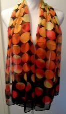 Retro style orange and yellow soft scarf-Aussie seller Brand new in packaging