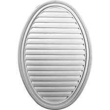 """24 1/2""""W x 37""""H x 2 1/4""""P, Vertical Oval Gable Vent Louver, Non-Functional"""